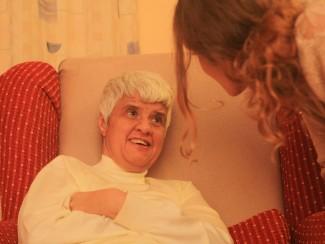 Frau Gross gönnt sich eine Ruhepause