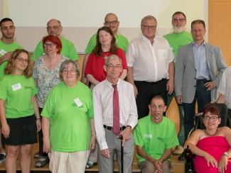 Das Organisationsteam der Lebenshilfe Wien mit ausgewählten Ehrengästen