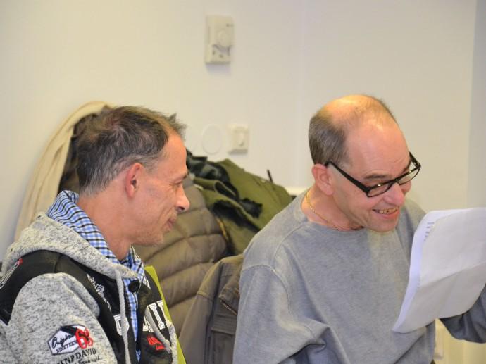 Robert Saugspier hält eine schöne Abschiedsrede (hier im Bild mit Josef Hochmeister)