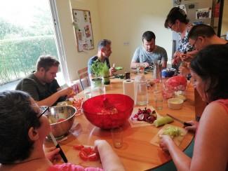 Gemeinsam Kochen macht Spaß