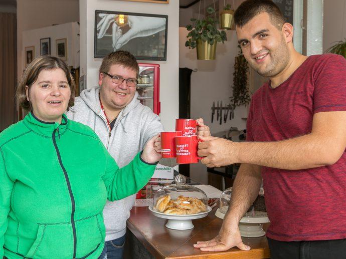 10c gehen für jeden Kaffee im mitgebrachten Becher an die Lebenshilfe Wien