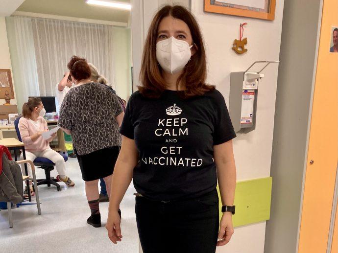 Ein großes Lob an unsere Impfkoordinatorin Maria Hainzlmeier-Bruckner, die alles souverän vorbereitet hatte und uns allen auch vor Ort mit Rat und Tat beistand
