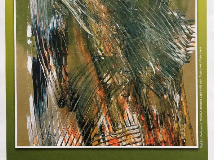 """Das Bild """"Herbststurm"""" von Christian Steinbach  ziert die Titelseite des Kunstkalenders 2021"""