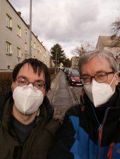 Andreas Etzenberger mit Markus Wagenhuber, Teilbetreutes Wohnen, Lebenshilfe Wien