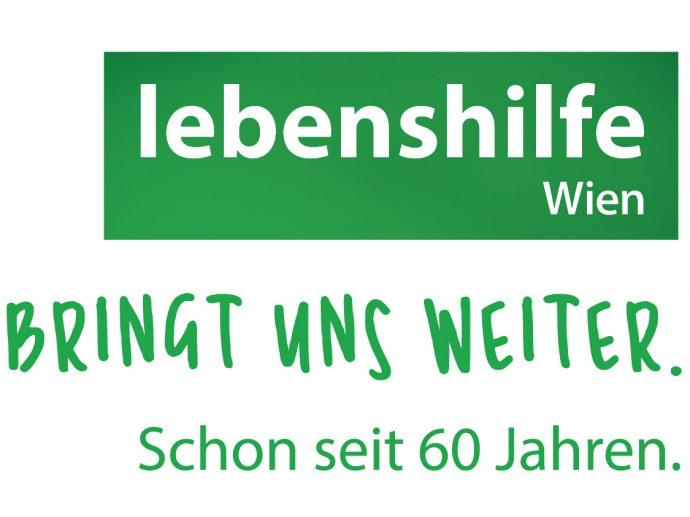 Jubiläumslogo: Lebenshilfe Wien - #bringtunsweiter - Schon seit 60 Jahren
